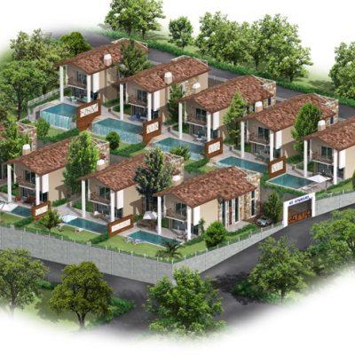 Kuşadasında Projeden Satılık Lüx Villalar